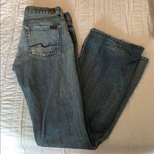 7 For All Mankind Distressed Flare Jeans sz 30